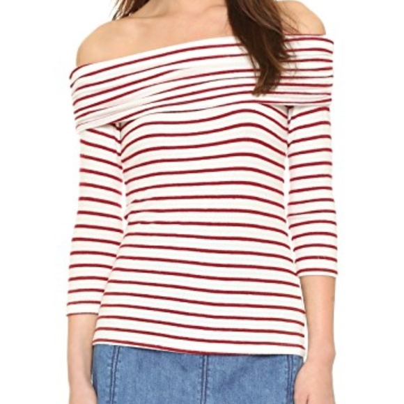 90120586b6a Hye Park and Lune Tops | Hye Park An Lune Striped Off The Shoulder ...